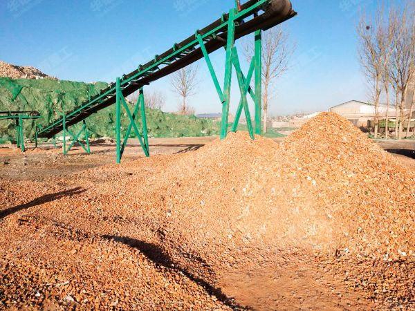 建筑垃圾资源化再利用生产现场
